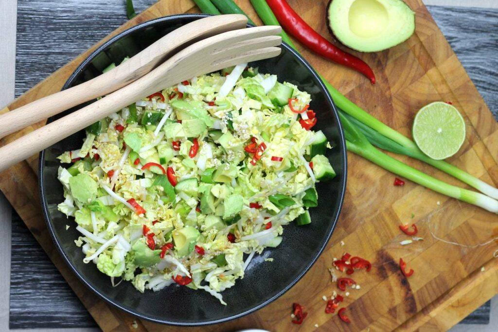keto coleslaw salad