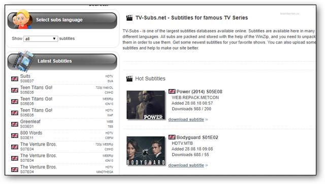 Download Subtitles Movies