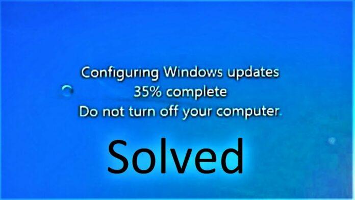 windows update stuck
