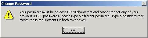 Password Must Be at Least 18770 Characters