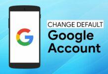 Default Google Account